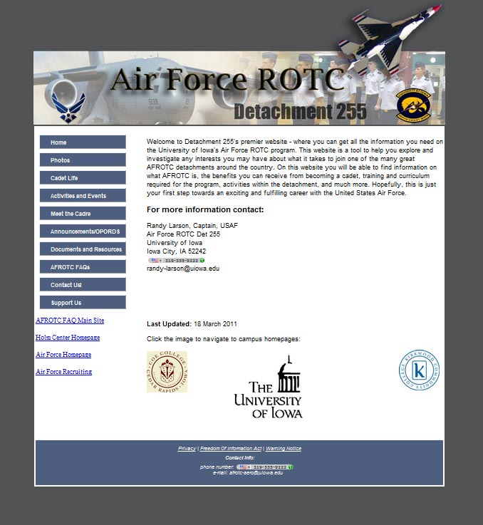 AFROTC detachment 255 website
